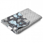 Light bamboo blanket - Indiana cat - silver