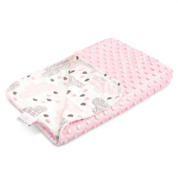 Light bamboo blanket Blush rain Blush