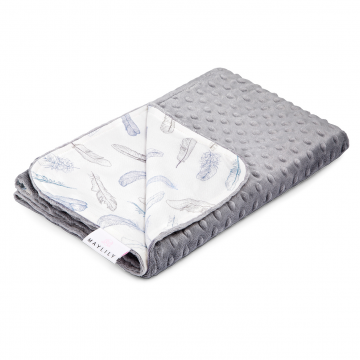 Light bamboo blanket Heavenly feathers Silver