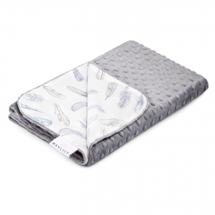 Light bamboo blanket Heavenly feathers - Silver
