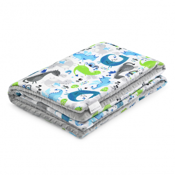 Warm bamboo blanket Dragons blue Silver