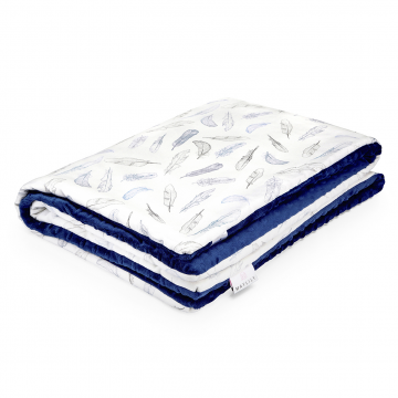 Warm bamboo blanket Heavenly feathers Navy blue