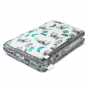 Warm bamboo blanket Wolves Silver