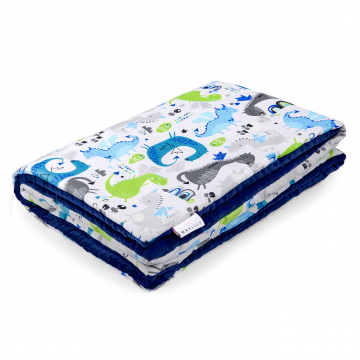 Warm bamboo blanket Dragons blue Navy