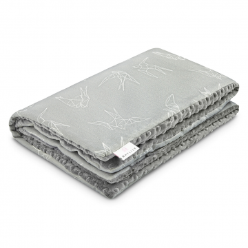 Warm bamboo blanket Swallows Silver