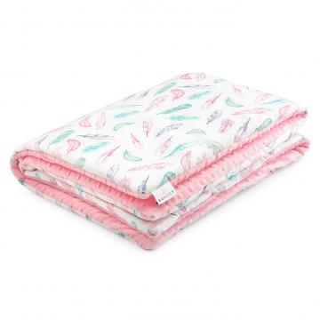 Warm bamboo blanket XL Paradise feathers Blush