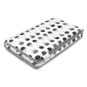 Warm bamboo blanket Hedgehogs boys Silver