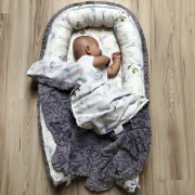 Baby nest Luxe Heavenly feathers White