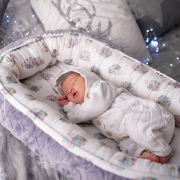 Baby nest Luxe Blush rain Grey