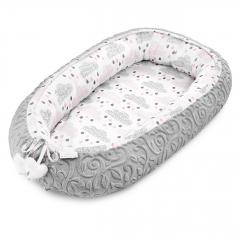 Baby nest Luxe Blush rain - Grey