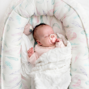 Baby nest Luxe Paradise feathers Pink