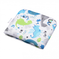 Bamboo baby pillow Dragons blue