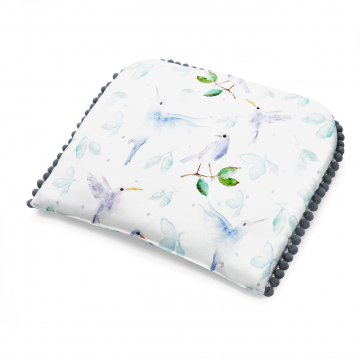 Pompom bamboo baby pillow Heavenly birds