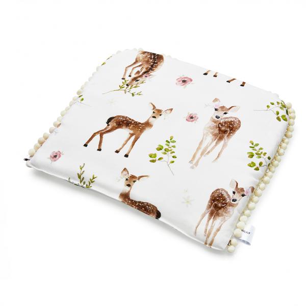 Płaska poduszka Bambinka z pomponikami