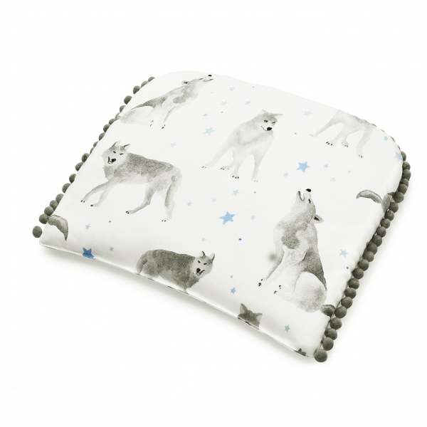 Pompom bamboo baby pillow Star wolves
