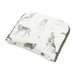 Bamboo pompom baby pillow - Star wolves