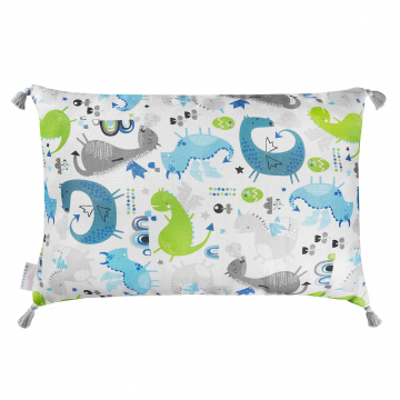 Double bamboo pillow Dragons blue