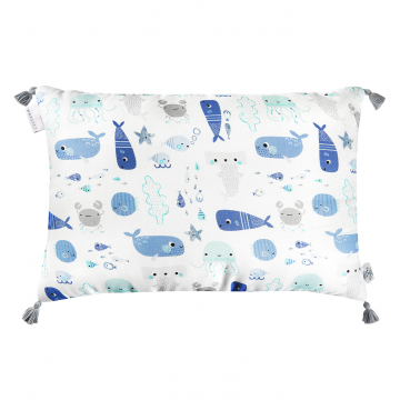 Double bamboo pillow Sea friends