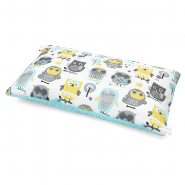 Bamboo fluffy pillow Grey owls Ice