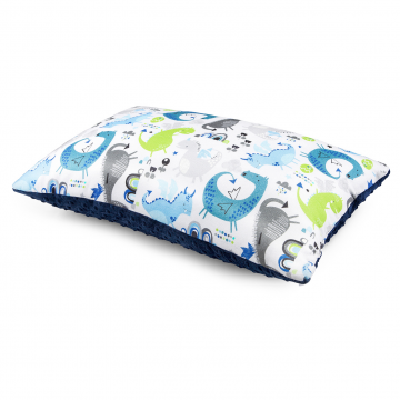 Bamboo fluffy pillow Dragons blue Navy