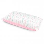 Puszysta poduszka bambusowa - Rajskie piórka - pudrowy róż