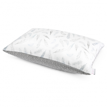 Bamboo fluffy pillow Heavenly feathers Silver