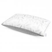 Puszysta poduszka bambusowa - Niebiańskie piórka - srebrny