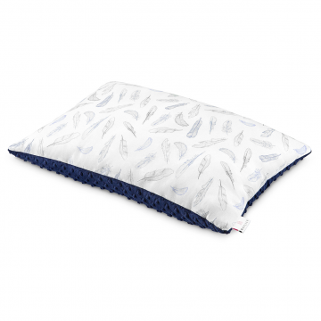Bamboo fluffy pillow Heavenly feathers Navy