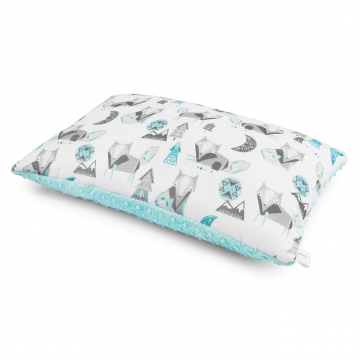 Bamboo fluffy pillow Wolves Ice