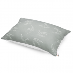 Bamboo fluffy pillow Swallows - White