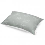 Puszysta poduszka bambusowa - Jaskółki - biały