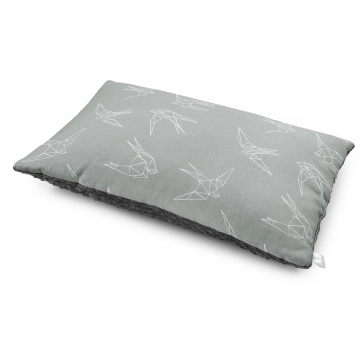 Bamboo fluffy pillow Swallows Silver
