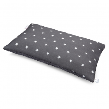 Bamboo fluffy pillow Stars Graphite