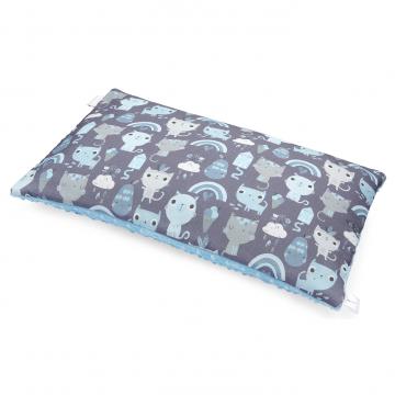 Bamboo fluffy pillow Indiana cat Light blue