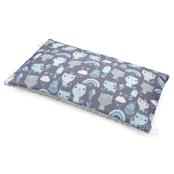 Bamboo fluffy pillow Indiana cat Silver