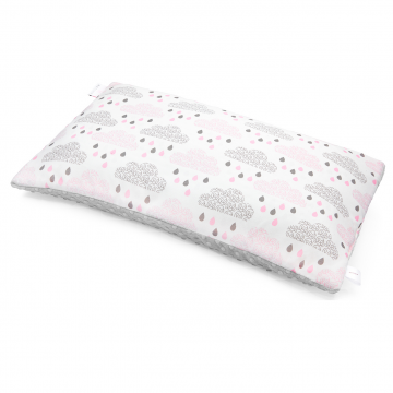 Bamboo fluffy pillow Blush rain Silver