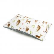 Puszysta poduszka bambusowa - Bambinka - srebrny