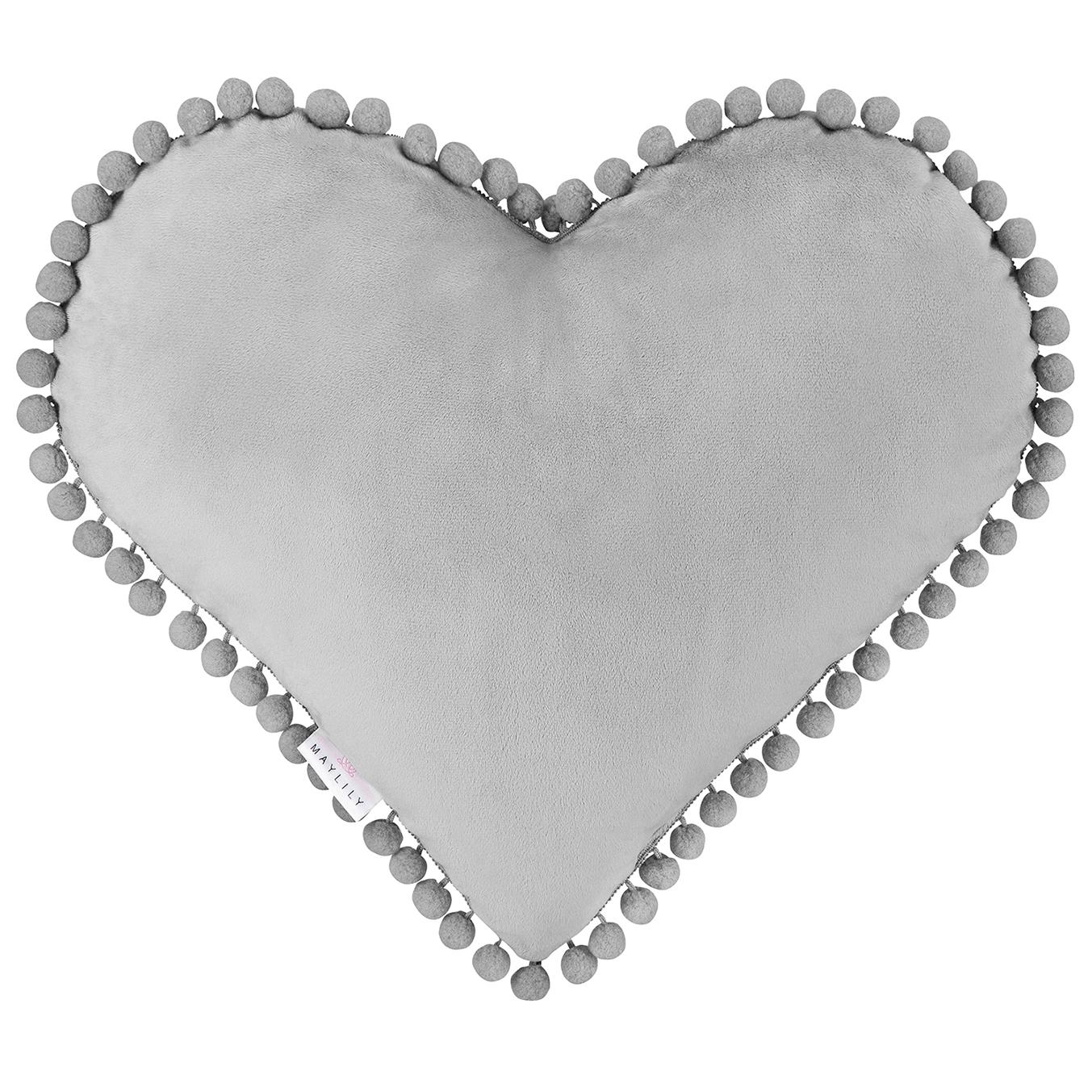 Poducha Love Grey
