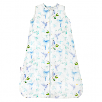 Bamboo muslin sleeping bag Heavenly birds
