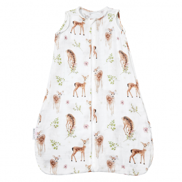 Bamboo muslin sleeping bag Fawns