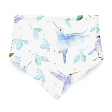 Bamboo bandana bib Heavenly birds