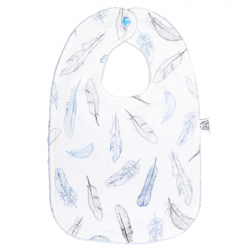 Bamboo bib Heavenly feathers