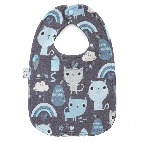 Bamboo bib Indiana cat