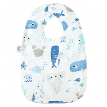 Bamboo bib Sea friends