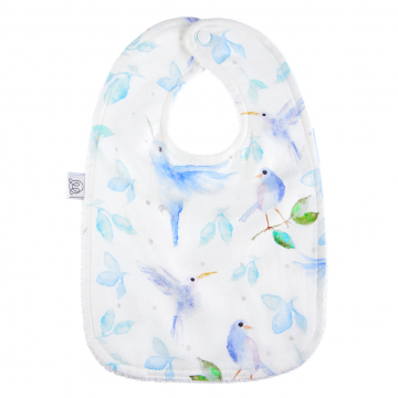 Bamboo bib Heavenly birds