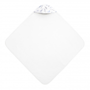 Bamboo baby towel Heavenly feathers White