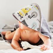 Ręcznik bambusowy niemowlaka Puszy uszy Śmietanka