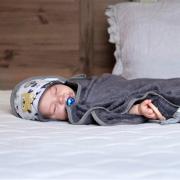 Ręcznik bambusowy niemowlaka Srebrny kieł Szary