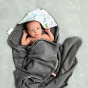 Ręcznik bambusowy niemowlaka Aleja gwiazd Szary