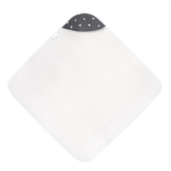 Bamboo baby towel Stars White